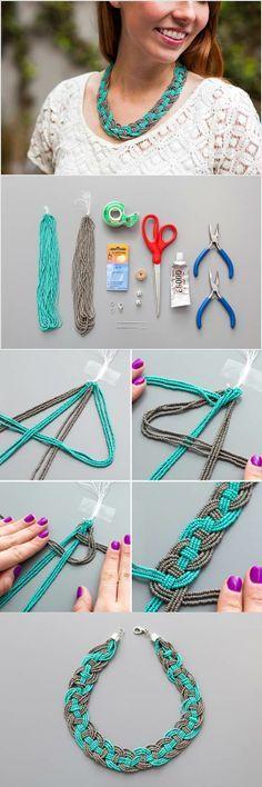 DIY Stunning Woven Beaded Necklace | iCreativeIdeas.com LIKE Us on Facebook ==> https://www.facebook.com/icreativeideas