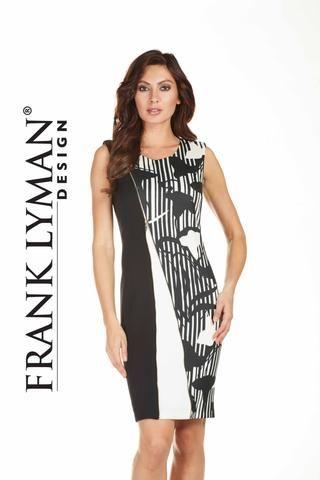 Black off white zipper dress in soft scuba knit. Proudly Made in Canada