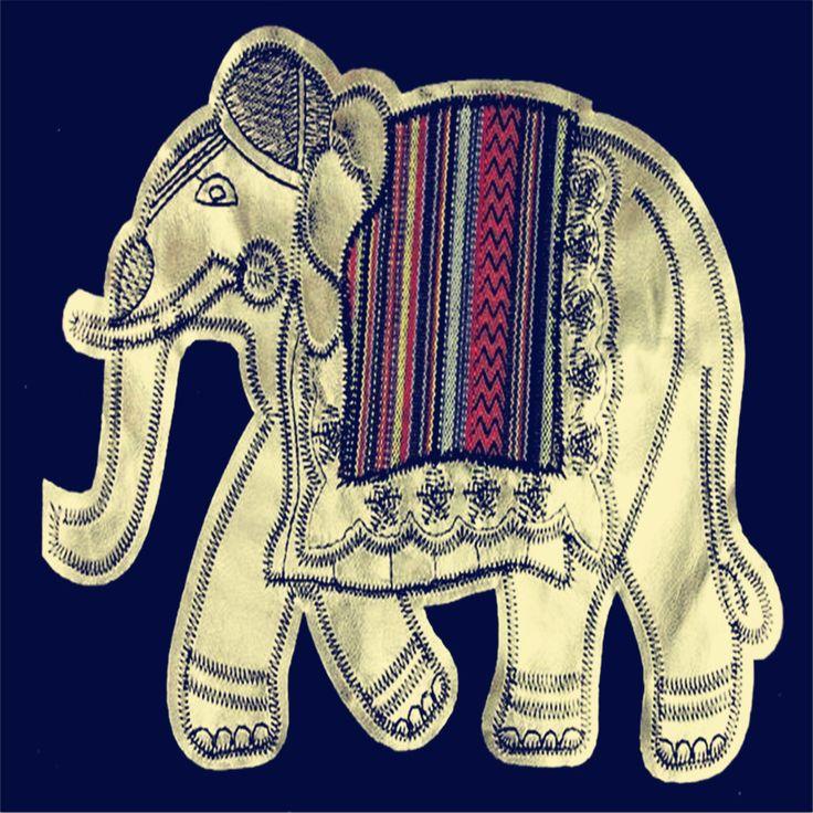 Одежда патч одежды шитье и ткани симпатичные слон серебристый желтый логотип, Мультфильм патчи для одежды дома DIY бесплатная доставка