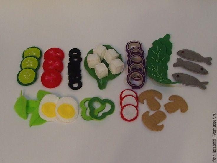 Шьем из фетра развивающую игру «Салат» - Ярмарка Мастеров - ручная работа, handmade