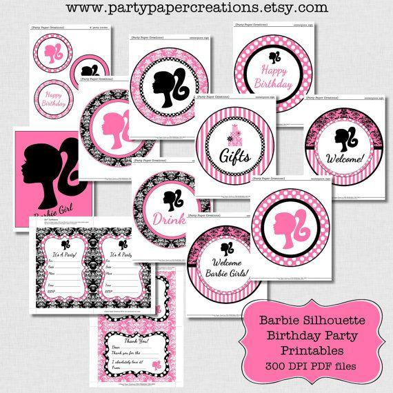 Duel Birthday Decor Zebra Barbie And Princess Themes: Barbie Party Barbie Birthday Party Decor By