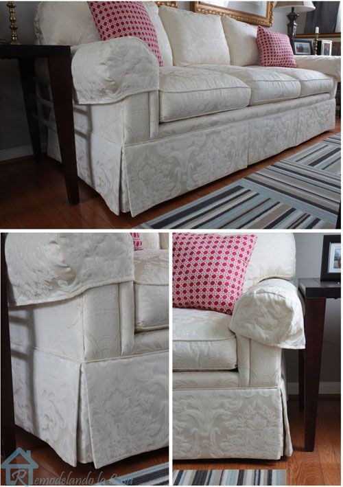 dated sofa makeover