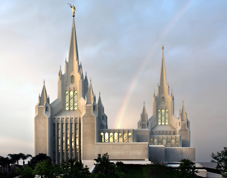 San Diego California Temple. via Etsy.
