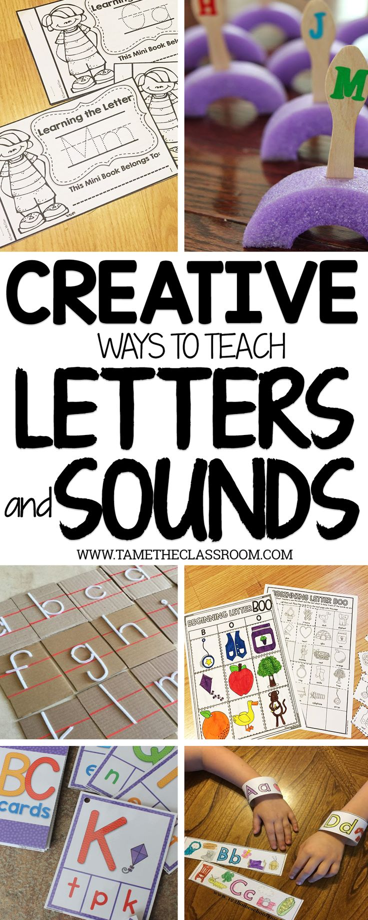 Need creative ways to teach letters and sounds? Here are a few ideas to get you going.