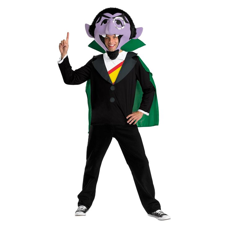 Halloween Sesame Street Men's The Count Costume X-Large, Size: XL