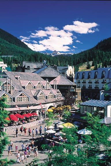 Beautiful Vibrant Whistler Village in the summer time, Whistler, BC, Canada #Whistler
