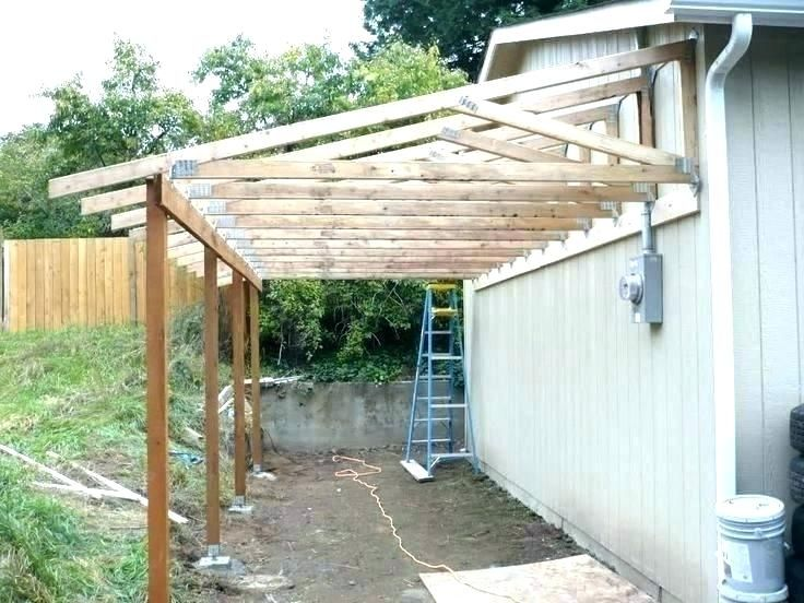Ranch House Roof Frame Cost Google Search Backyard Patio Lean To Carport