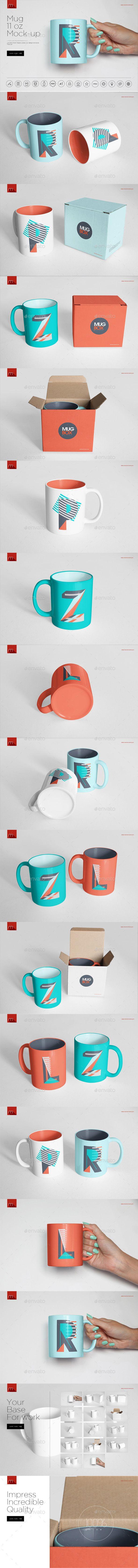 Mug 11 oz Mockup  — PSD Template #coffee #corporate • Download ➝ https://graphicriver.net/item/mug-11-oz-mockup/18308444?ref=pxcr