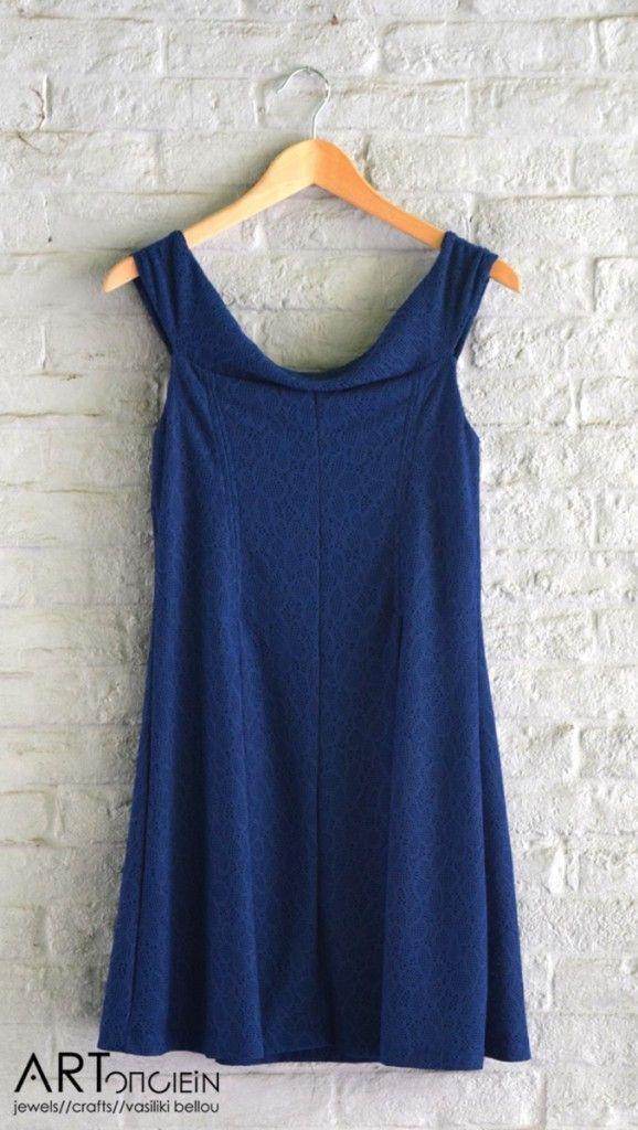Μπλε ρουά φόρεμα Free Style