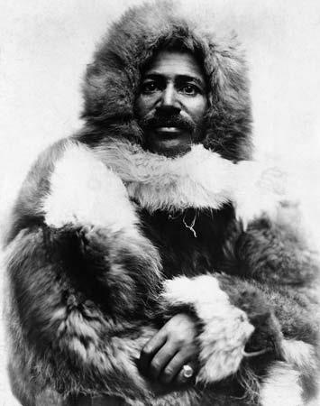 Matthew Alexander Henson, African American explorer and associate of Robert Peary on multiple expeditions, including the 1909 expedition in which he planted the American flag as the first person to reach the Geographic North Pole