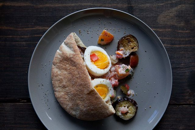 Egg and Eggplant Sandwich (Sabih) from Food52