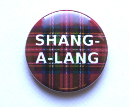 """SHANG-A-LANG"" Bay City Rollers 25mm Button Pin Badge 1970 1970s 70s Retro 