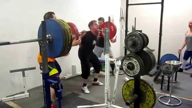 Squat: 170 kg x 3 reps. Andre Gangvik Bodyweight: 87kg