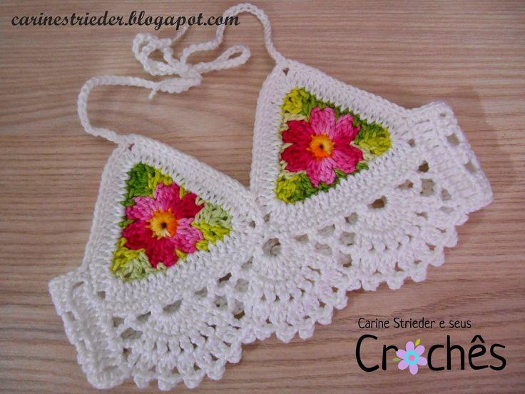 Carine Strieder e seus Crochês: Cropped de Crochê para Bebê