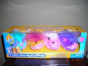 4 Pack Zhu Zhu Pets-Rockstars New by Cepia. $48.55. Adventure Mode: Let them scamper, bump n' boogie across the floor. or through their hamster habitat. Each zhu Zhu hamster has its own unique personality & whimsical sounds. Zhu Zhu rockstars don't poop, die or stink, but they are a riot of motion and sound! Darting around in their hamster tubes, busilly scurrying around from room to room, you never know where they'll go next! Simply get pet the hamster's back se...