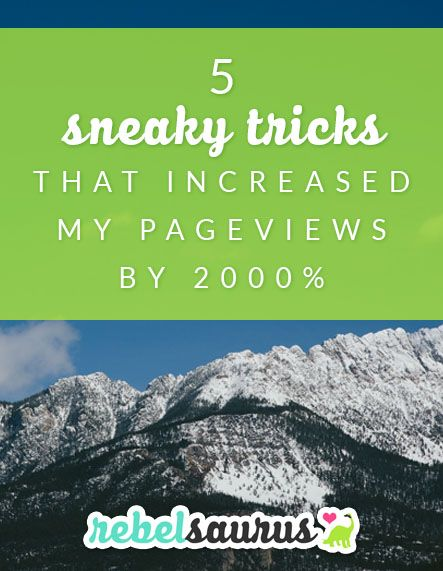 In some businesses, page views are just a vanity metric, but in others, such as blogs that depend on advertising, page views are your lifeblood. So if you'd like to increase either the number of eye balls on your content or how many posts each visitor is reading (thus generating more page views), read on to learn my 5 sneaky tricks to increase your page views overnight with just a few quick tweaks to your website. The last one is by far the most important one!