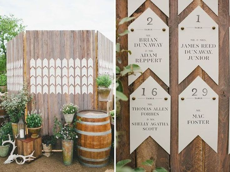 Rustic Chic Escort Card Display