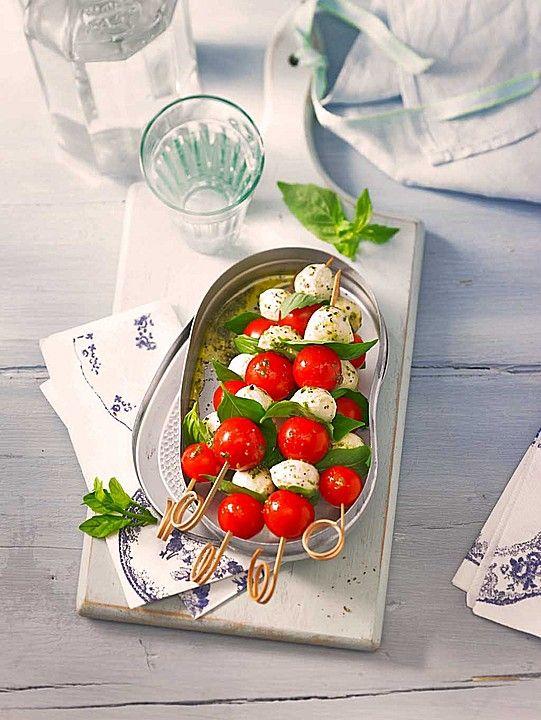 Tomaten - Mozzarella - Spieße - ideal für den Sommer