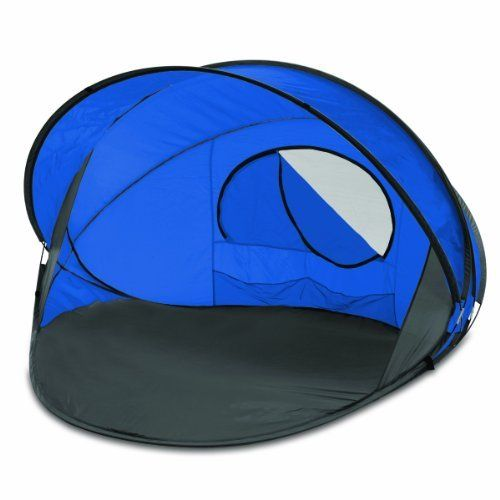 Picnic Time Summerwinds Portable Pop-Up Sun/Wind Shelter, Blue by Picnic Time. $77.95. Innovative pop-up design- no assembly required. Summerwinds portable shelter for day use against sun or wind. Comes with its own carry case. Features lightweight polyester shell, fiberglass frame with metal stakes and sand pockets for anchoring. Zippered mesh window allows for cross-ventilation. This Picnic Time Summerwinds portable shelter is compact and allows for quick and easy...