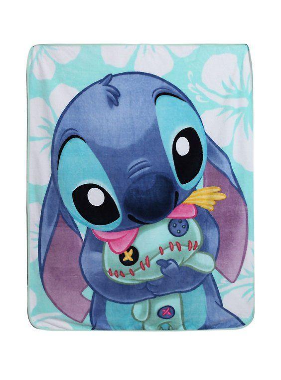 """Disney Lilo & Stitch Scrump Hug Comfy 48"""" x 60"""" Plush Throw Blanket"""