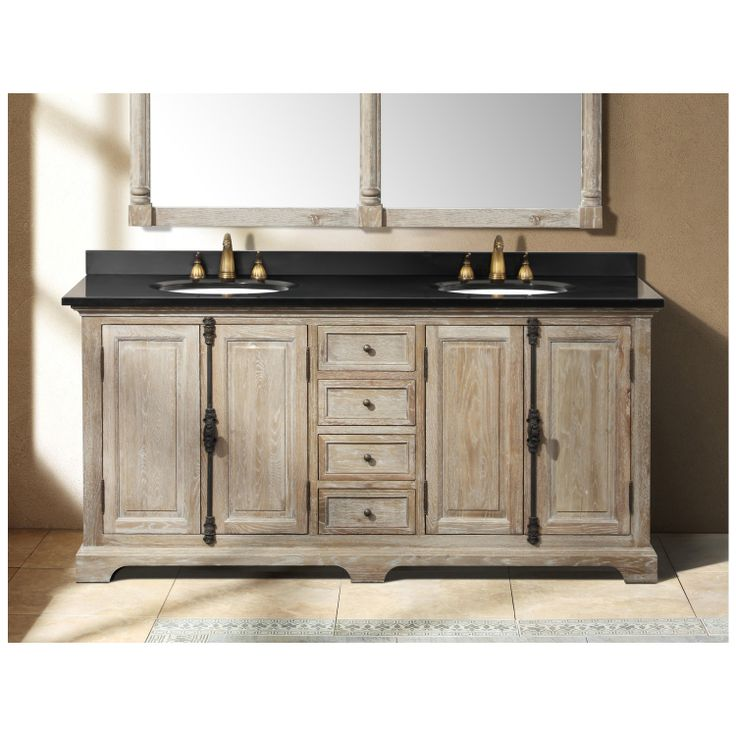 Best Weathered Wood Bathroom Vanities Images On Pinterest - 63 inch double sink bathroom vanity for bathroom decor ideas
