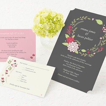Garden Wedding Invitation Ideas wedding invitations green Find This Pin And More On Wedding Invitation Ideas