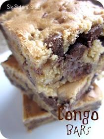 Congo barsDesserts, Chocolates Chips, S'More Bar, S'Mores Bar, Bar Cookies Recipe, Bar Recipes, Six Sisters Stuff, Cookie Recipes, Congo Bar