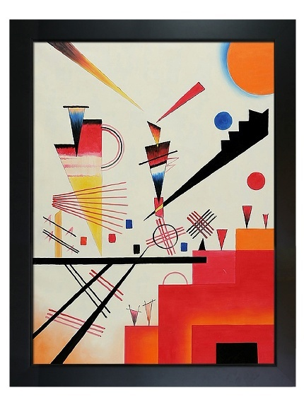 Kandinsky - Structure Joyeuse Merry Structure at MYHABITMerry Structures, Joyeuse Merry, Abstract Art, Kandinsky Wassily, Kandinsky Art, Canvas Art, Art Historical, Structures Joyeuse, Wassily Kandinsky