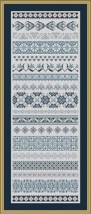 Band Sampler Katrin - Cross Stitch Pattern