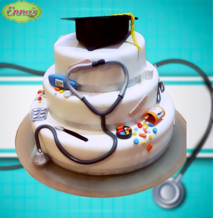 Pastel de graduación de Médico