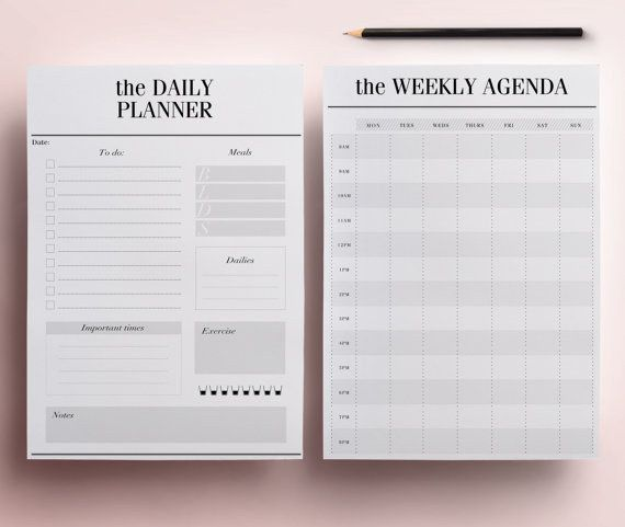 Daily Planner Pages | 13 Ingenious Planners That Will Help You Get Your Life Together