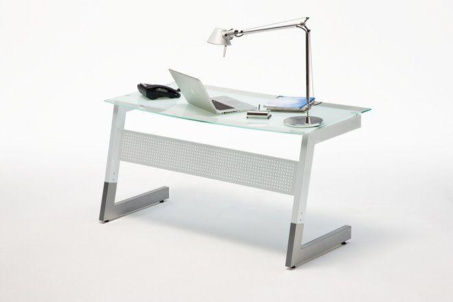 Glasschreibtisch Andre I - 2 Farben Zeitlos moderner Schreibtisch in 2 unterschiedlichen Farbvarianten erhältlich 1 x Schreibtisch mit Glasplatte Material:...