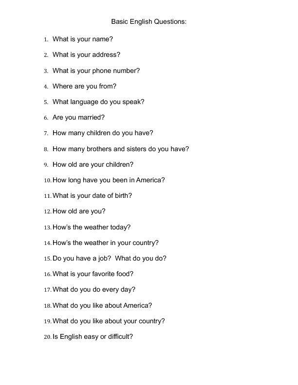 Preguntas Básicas De Conversación En Inglés Aprender Inglés This Or That Questions Conversation Questions English Conversation For Kids