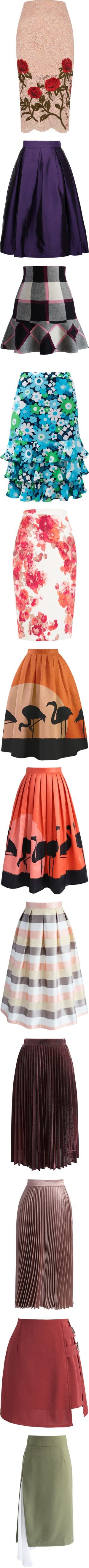 SKIRTS/EIGHT by kazza-smith on Polyvore featuring women's fashion, skirts, lacy skirt, ski skirt, lace pencil skirt, tall skirts, knee length pencil skirt, dark purple, purple skirt and long polka dot skirt