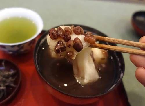 京都・梅香堂「ぜんざい」お餅2個