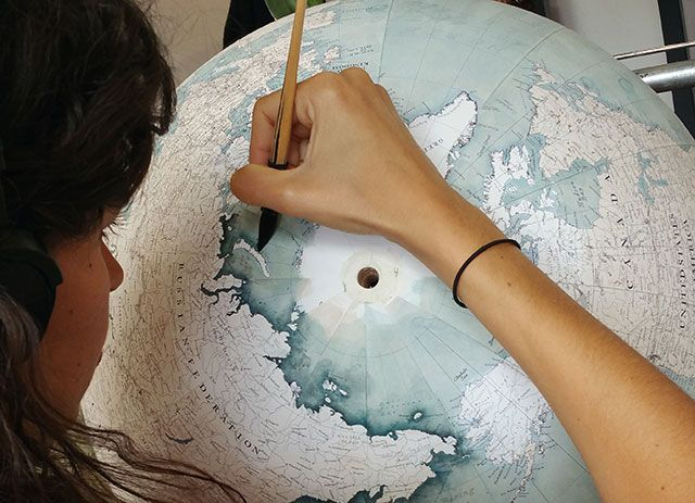 Painstakingly Hand Crafted World Globes By One of the Last Globemakers