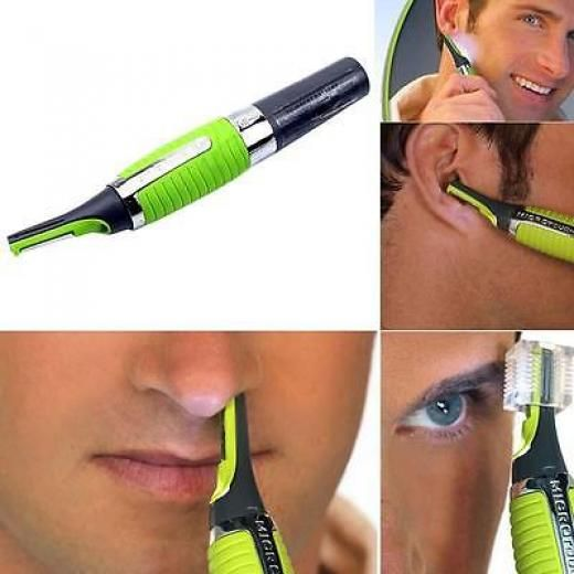 Led Micro Touch Trimmer Nose Ear Eyebrow Sideburn Hair Shaver Battery Powered Rs 875653526203