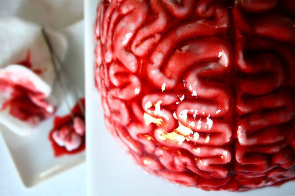 Cerveau de zombie façon tartare, Halloween