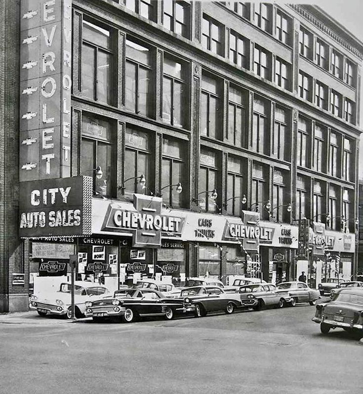 405 best Vintage Automobile Dealerships images on Pinterest | Old ...