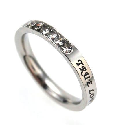 True Believer - True Love Waits, Princess Cut Purity Ring, $24.95 (http://www.truebelievershirts.com/true-love-waits-princess-cut-purity-ring/)