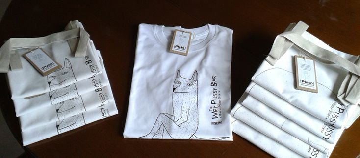 tote bags and t-shirt silkscreened