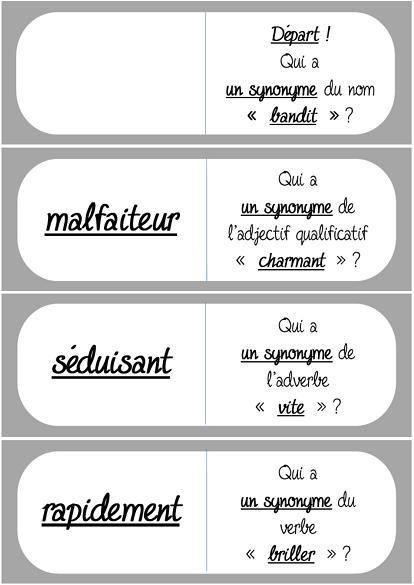 Les dominos des synonymes niveau 3 flocon pour le vocabulaire - Synonyme de construire ...