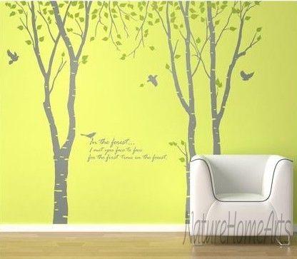 Wandtattoo Wanddekoration - Baum mit Vögeln von NatureHomeArts auf DaWanda.com