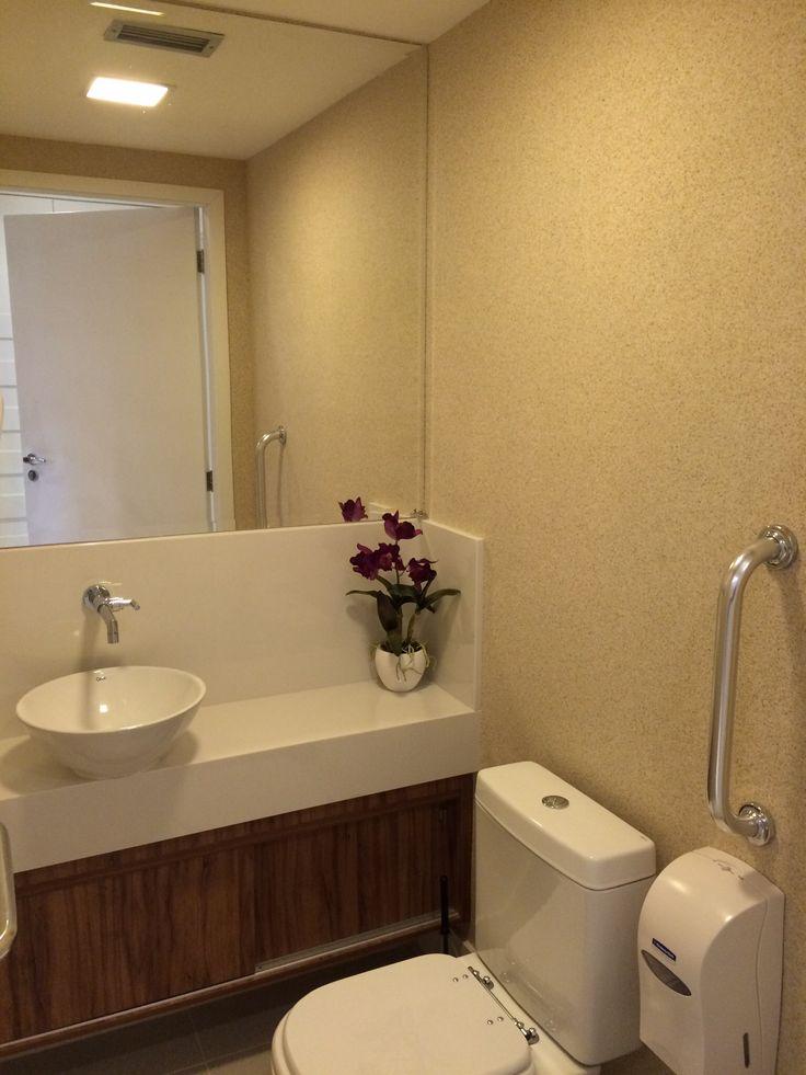 Banheiro do consultório médico  Largo do Machado  RJ  consultórios  Pinte -> Banheiro Decorado Com Pvc