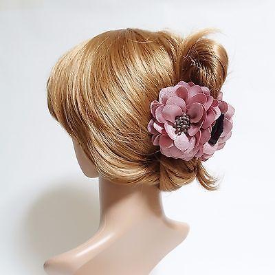 Grosgrain Petal Pistil Flower Hair Jaw Claw Gift Hair Accessories #veryshine #hairclip #hairclaw #flowerclaw