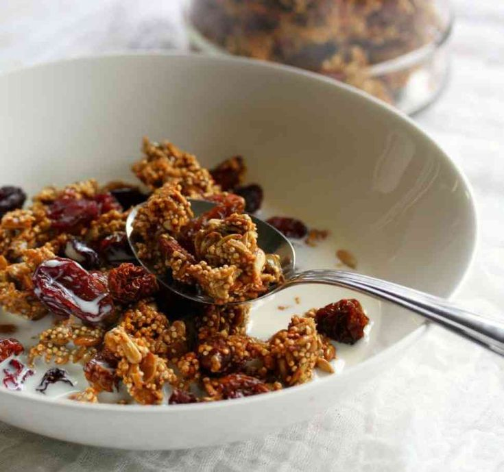 This grain free granola is perfect for making and storing in the pantry for a convenient breakfast or snack.