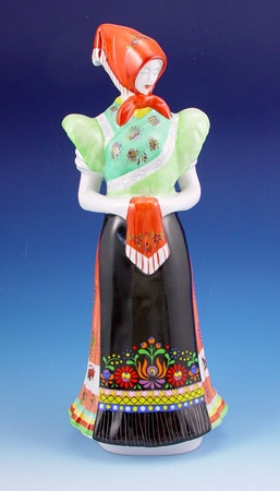 Large Hollohaza  Matyo Woman Figurine