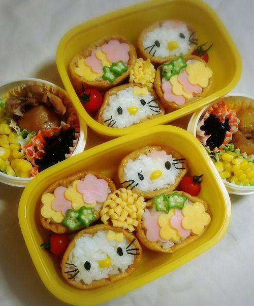 posted by @chika_5055 今日のお弁当いなり寿司鶏としゃがいもの照り煮 ひじきの煮物 とうもろこし...
