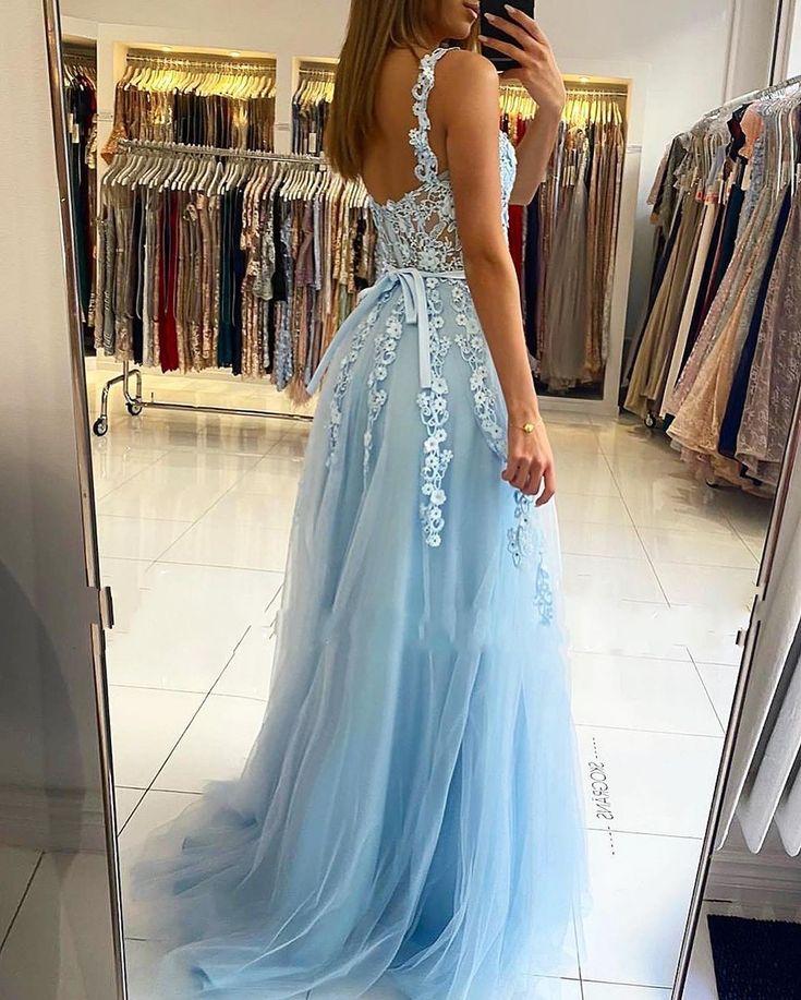 Abendkleider Blau | Abiballkleider Lang Günstig Online in ...