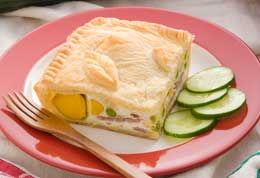 Bacon & Egg Pie recipe from Food in a Minute